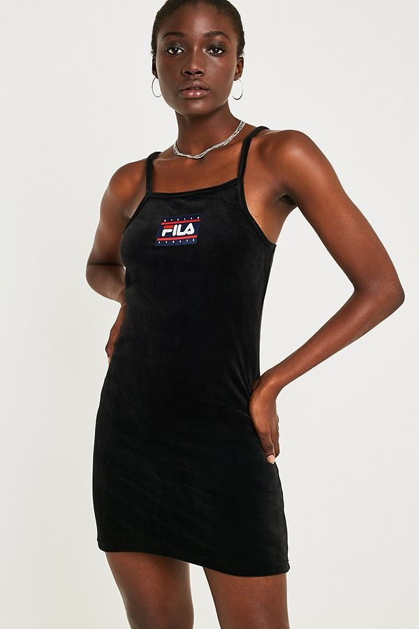 63409eff8aa FILA Nyla Velour Mini Dress in 2019 | wish list babyy | Fila dress ...