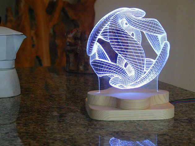 Mesmerizing High Tech Lighting In Your Choice Of 3 Best Selling Custom Designs Light Sculpture 3d Illusions 3d Illusion Lamp