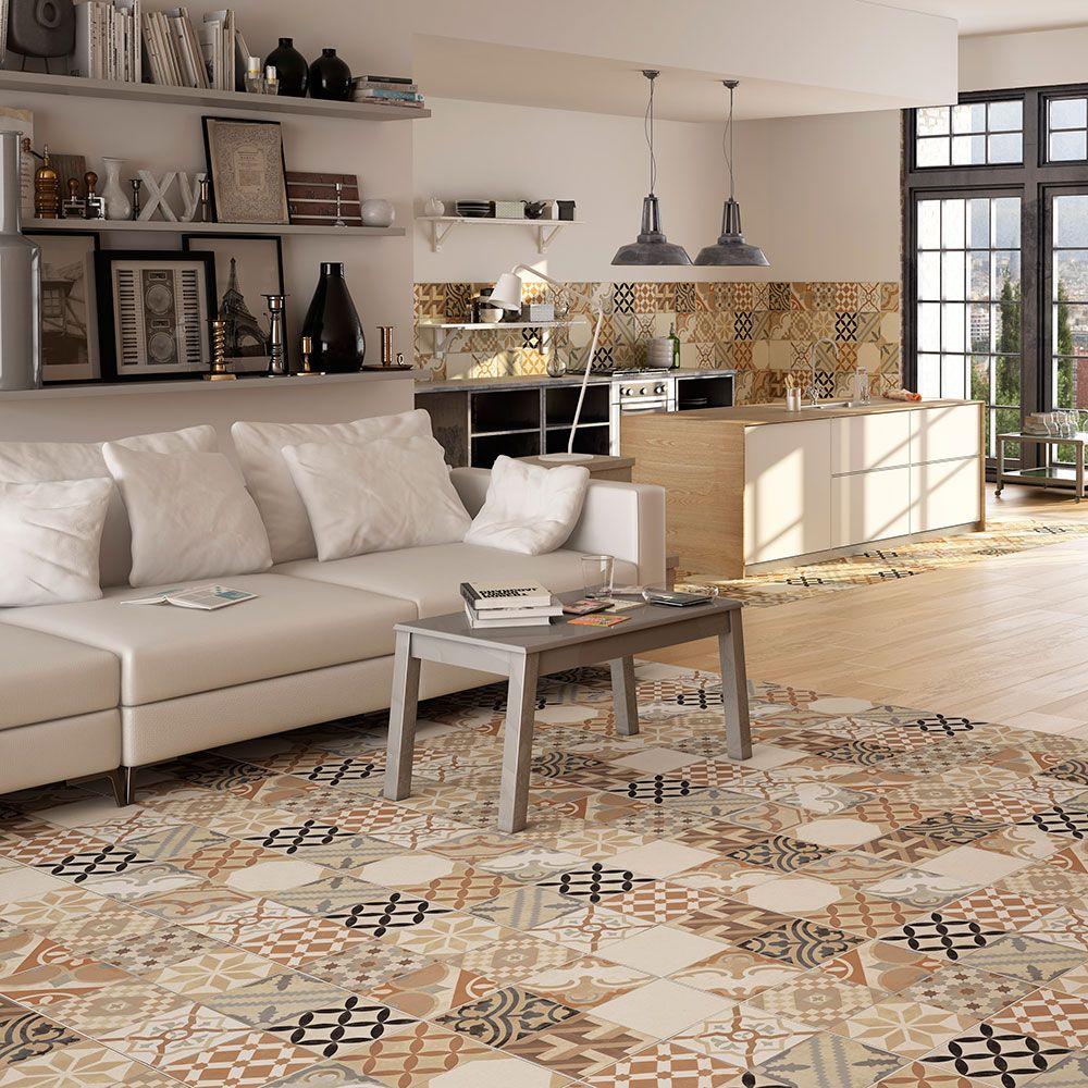 Ceramic Floor Tiles, Grey Wall