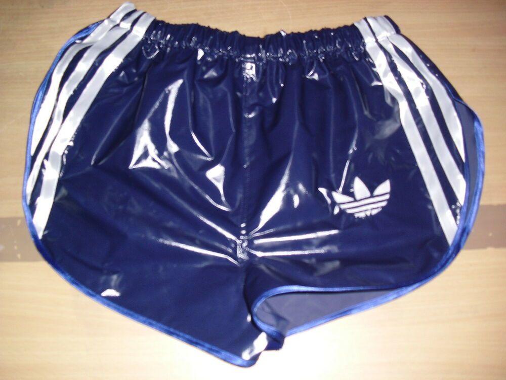 Glanz Shorts Shiny nylon Bloomershort glossy wet  Vintage Sporthose Neu Gr.XL