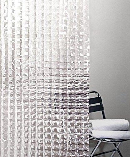Contemporary Carel Prism Clear Vinyl Shower Curtain Splash