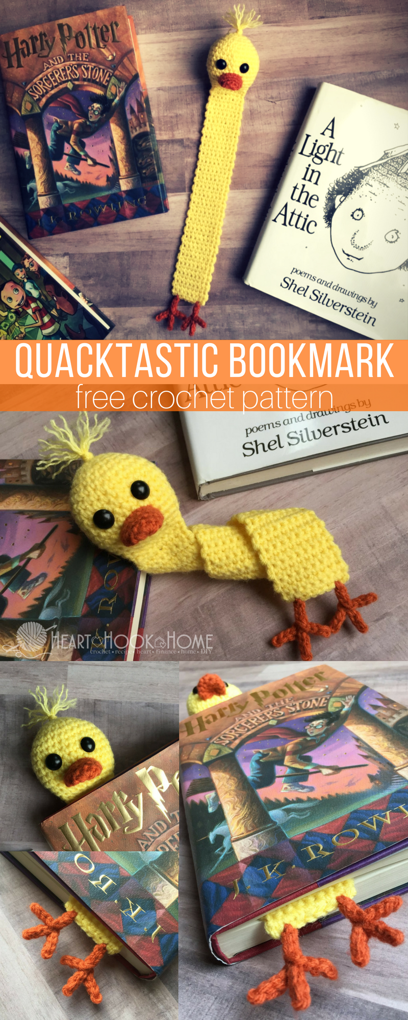 Libros De Ganchillo Quacktastic Duck Bookmark Free Crochet Pattern Patrón Libre