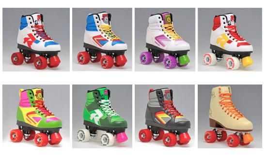 Roces Unisex Disco Palace Fitness Quad Skates Roller Skate Red//White//Mint 550039