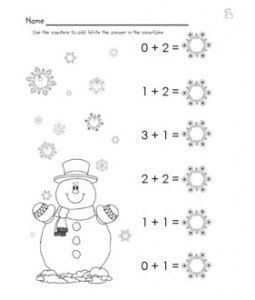 Winter Adding Wksht Winter Math Winter Math Worksheets Winter Addition Worksheets