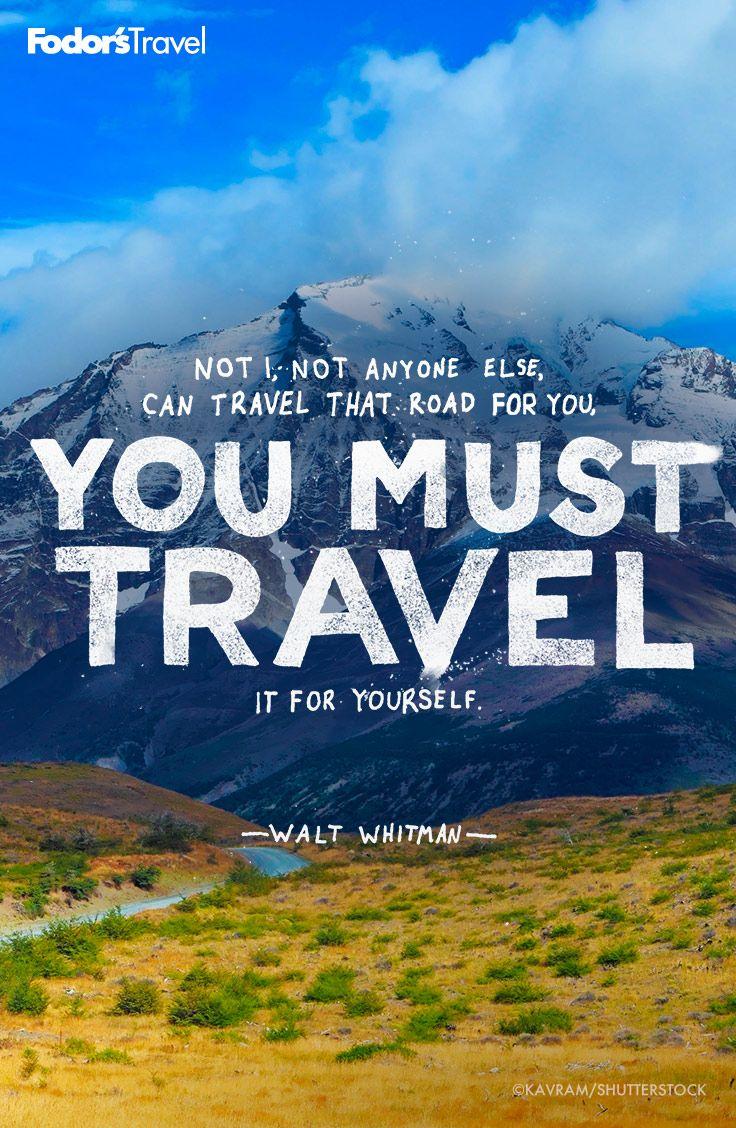 Travel Inspiration Quote Waltwhitman Travel Quotes
