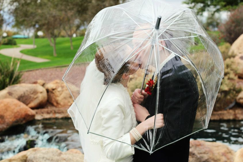 plans for a rainy wedding day
