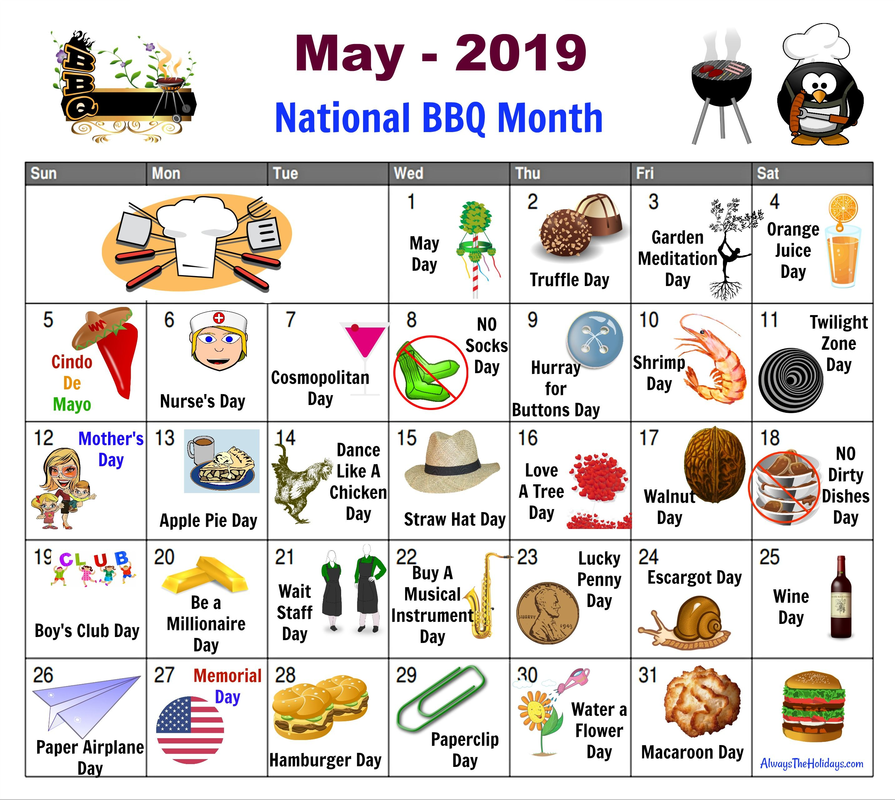 May National Day Calendar Free Printable National Day Calendar