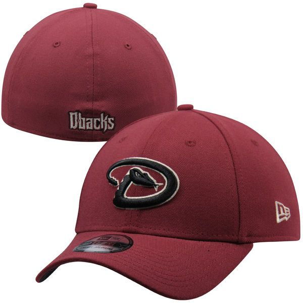 acbcbad7a19 Men s Arizona Diamondbacks New Era Red MLB Team Classic 39THIRTY Flex Hat