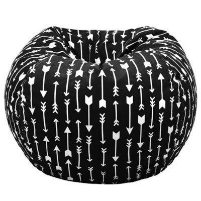 Acessentials Paris Bean Bag Chair In Black/white