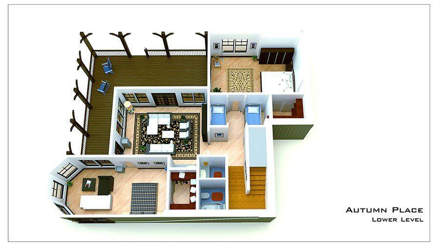 Small Cottage Plan with Walkout Basement | Small cottage ...
