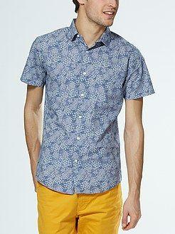 Camisas - Camisa de algodón manga corta - Kiabi