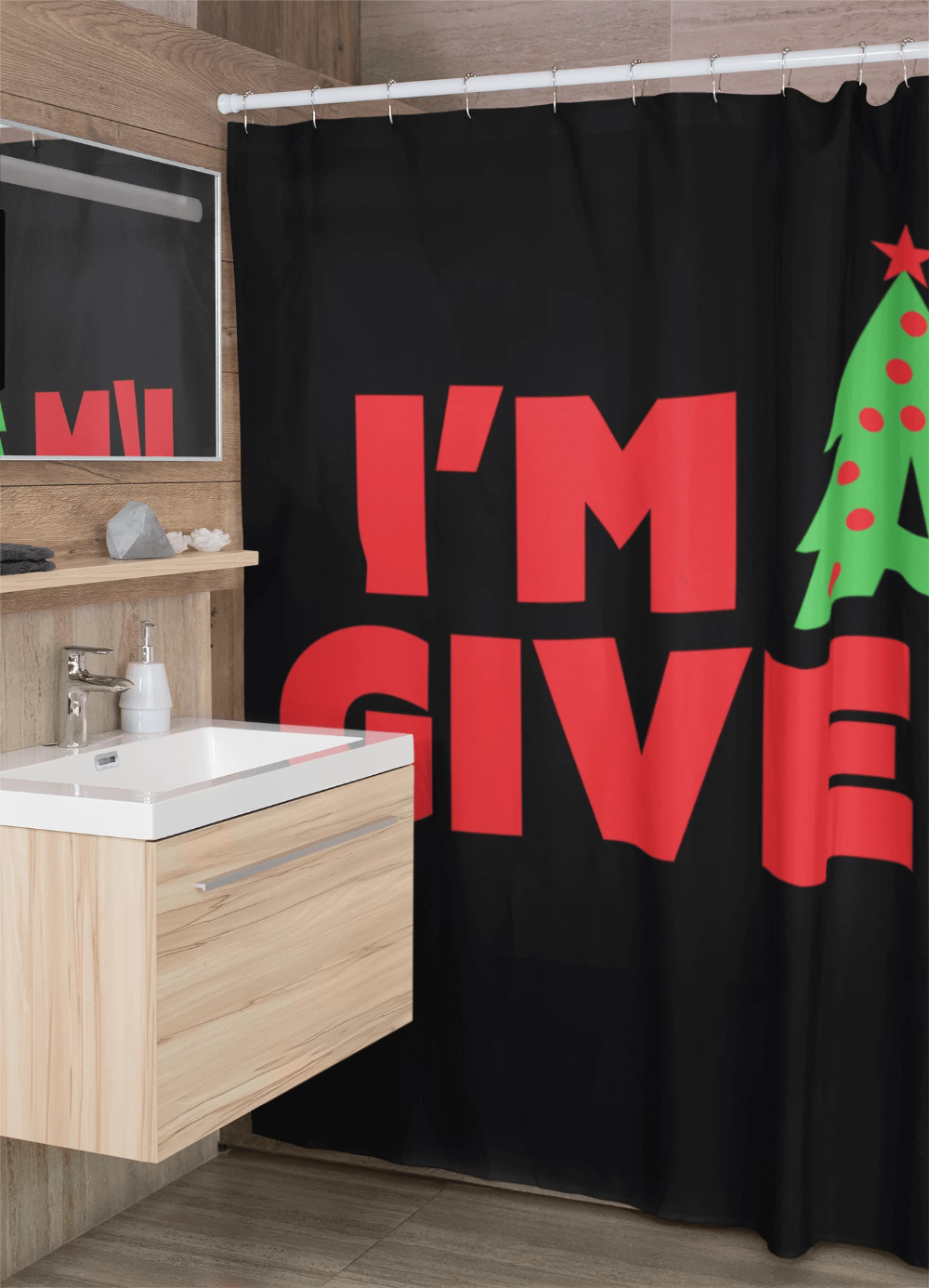 I M A Giver Shower Curtain In Black Curtains House Prints