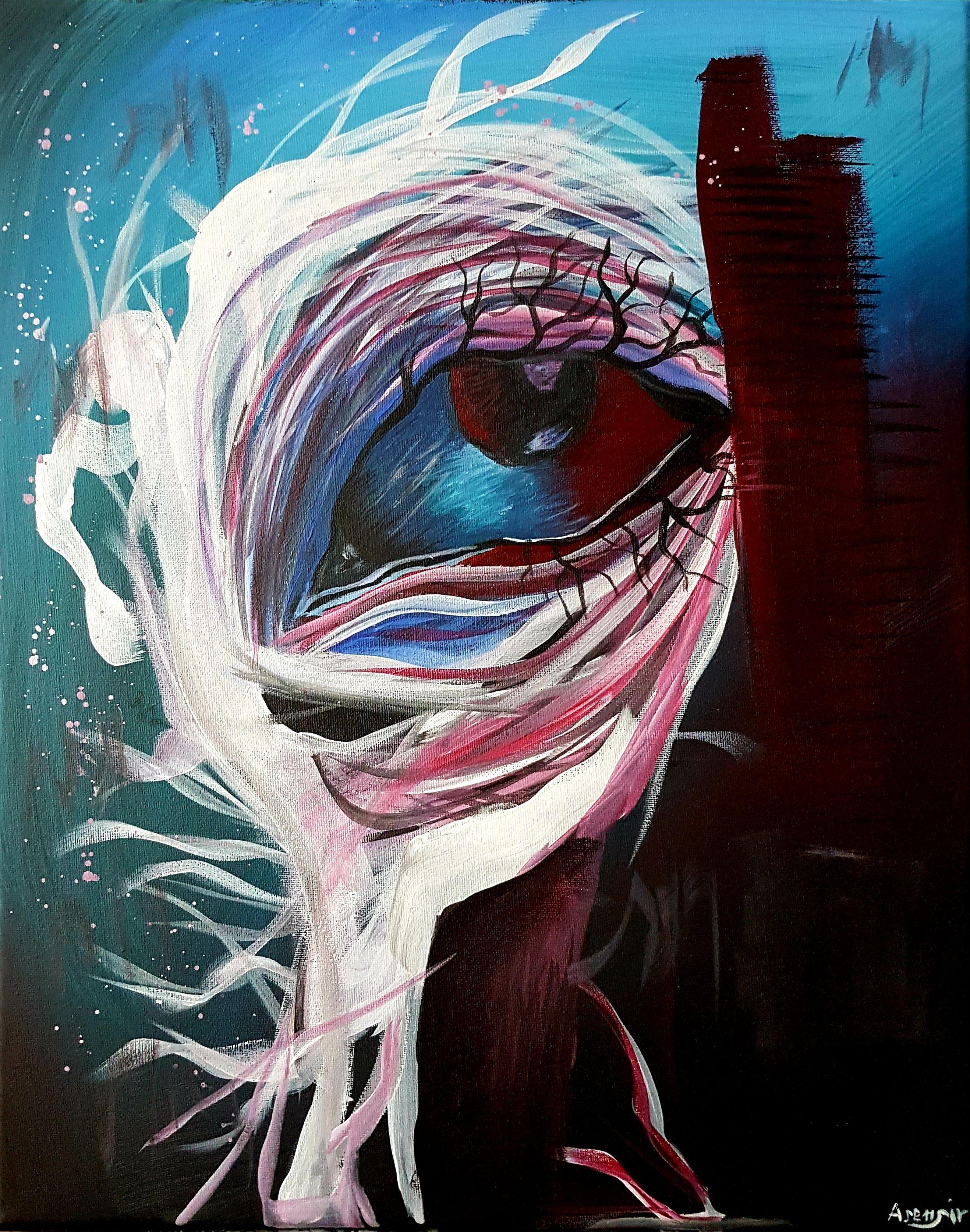 Akryl Na Plotnie Acrylic On Canvas 40x50cm Painting Art