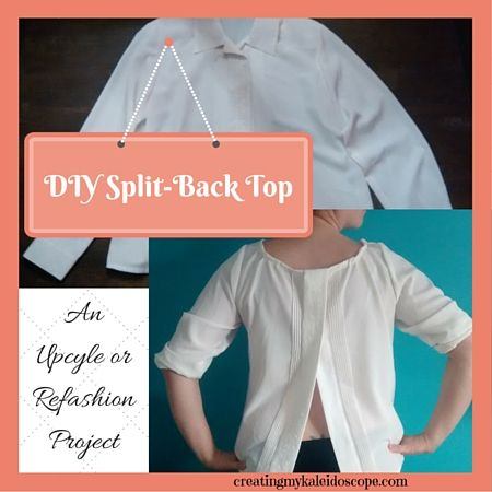 410dbf926e6e2a DIY Split-Back Top From A Blouse Upcycle   Refashion Project Tutorial