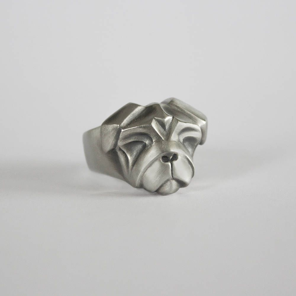 Silver Pug Ring Pug Lover Ring Dog Ring Pug Jewelry Dog