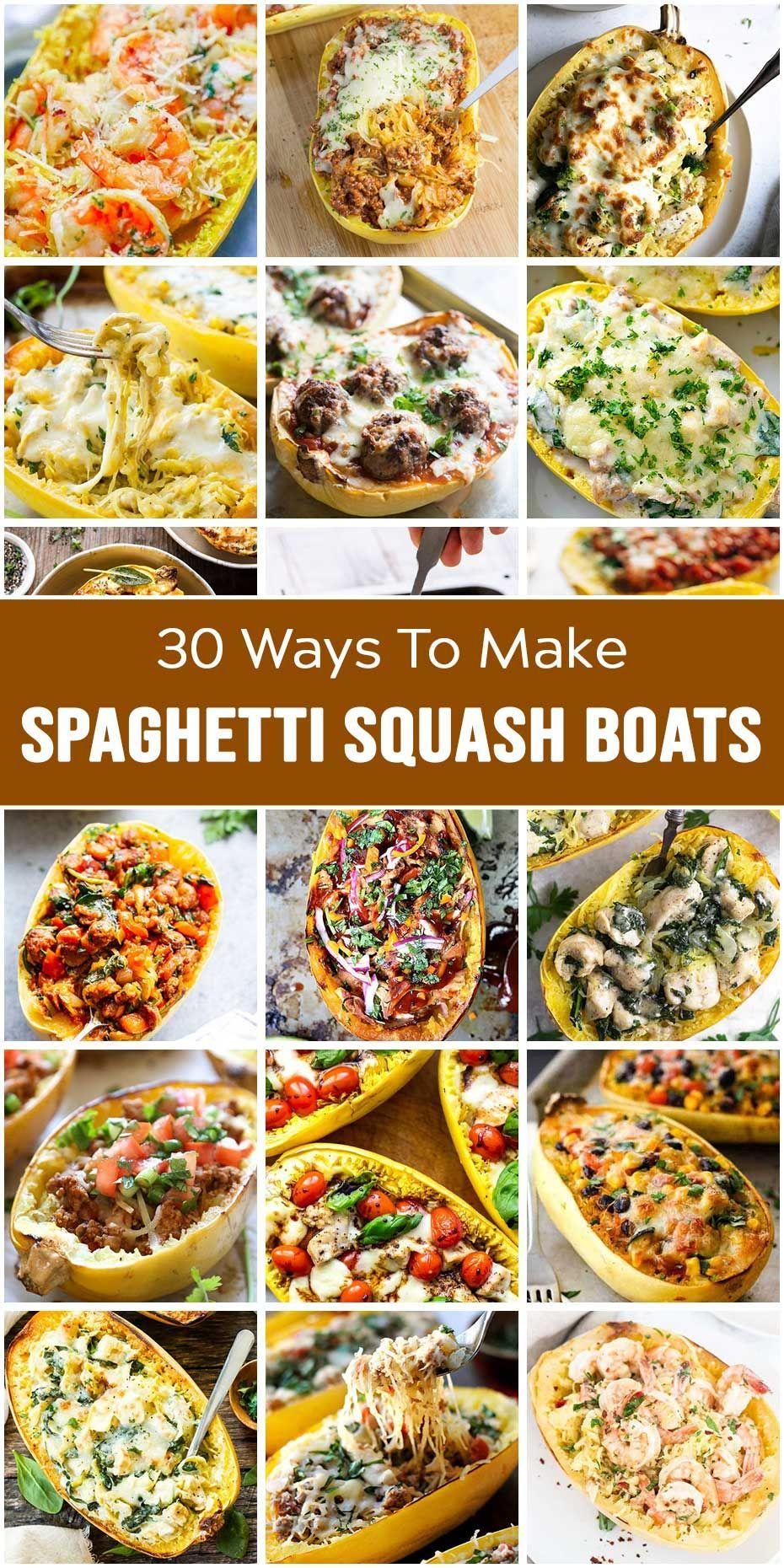 Spaghetti Squash Boats: Crazy Good Food For Meals #stuffedspaghettisquash Spaghetti Squash Boats: Crazy Good Food For Meals #stuffedspaghettisquash