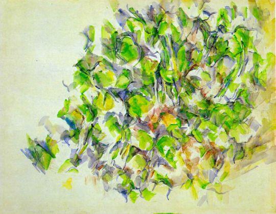 Foliage by Paul Cezanne  Medium: watercolor on paper