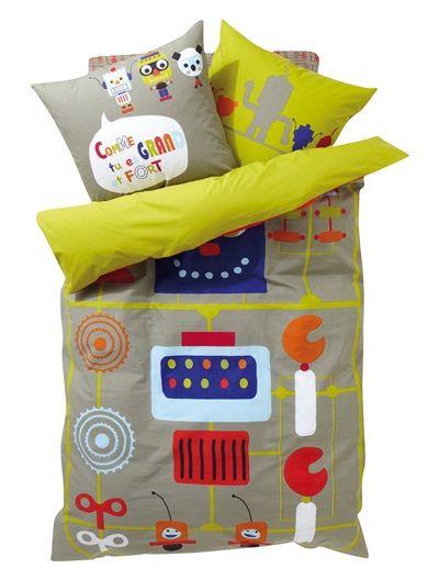 Housse de couette garcon robot 39 story kids modern bedding for boys pinterest room kids - Housse de couette toys story ...