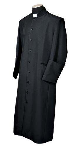 8570a10493 NEW Mens BLACK BLACK CLERGY CASSOCK ROBE pastor preacher minister REG LONG  SIZES