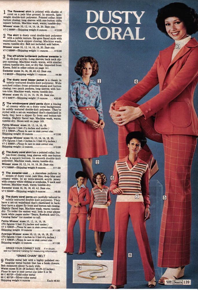 11 Extremely Seventies Pages From The 1975 Sears Catalog Seventies Fashion Mix Match Outfits Fashion Revolution