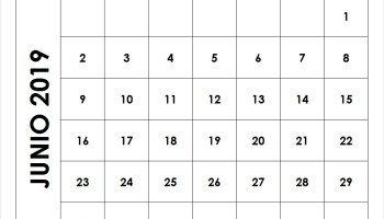Calendario Mes Junio 2019.Calendario Junio 2019 Para Imprimir Teriz Yasamayolver Com