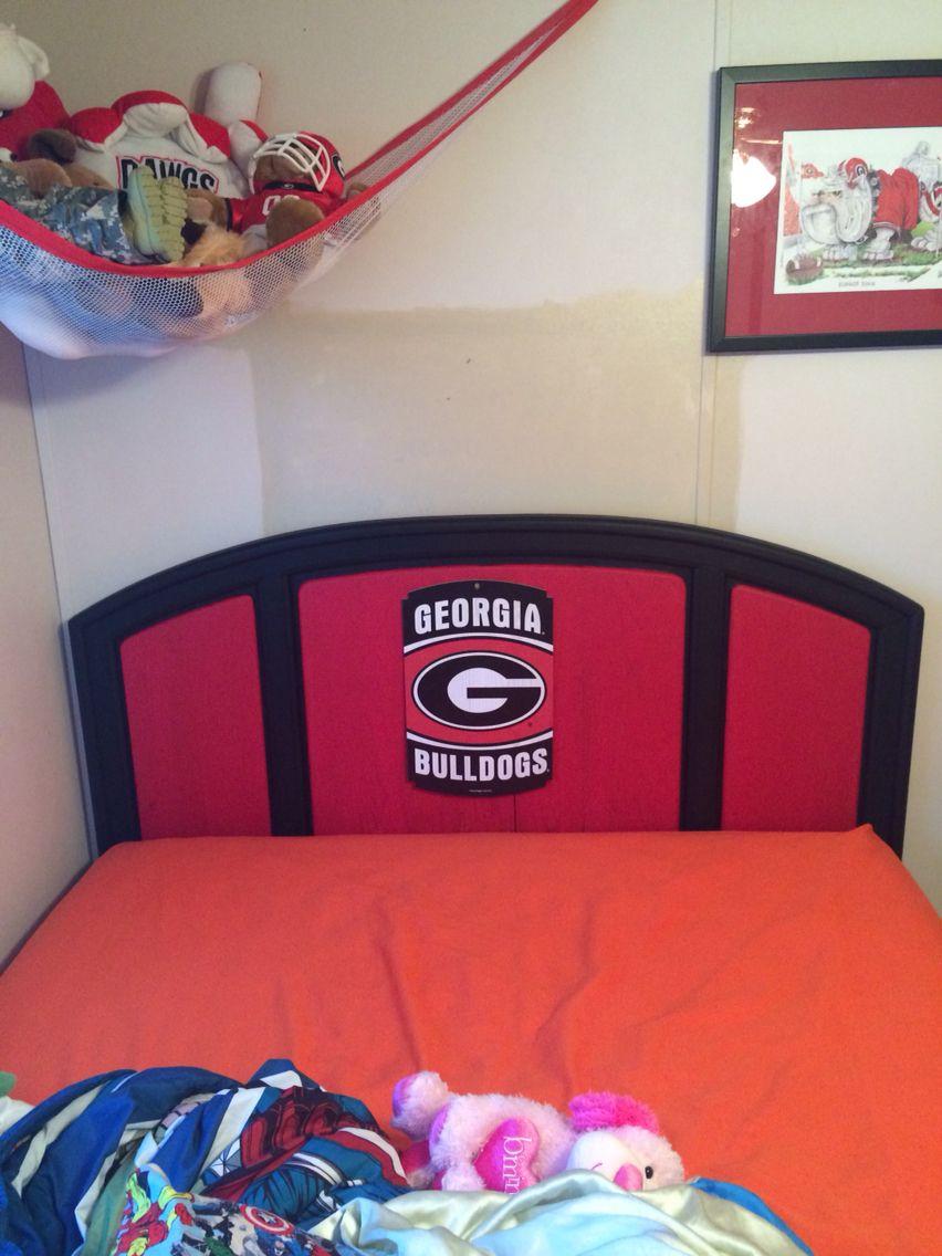 Georgia Bulldog Headboard Boys Room