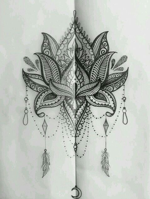 Mehndi Lotus Tattoos Lotus Mandala Tattoo Lotus Tattoo Design