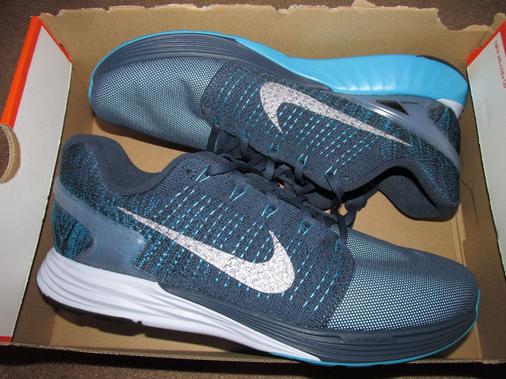 207785cfed6a Nike Lunarglide 7 Flash Mens Running Shoes Squadron Blue 803566 400 H20  Repel  Nike  RunningCrossTraining