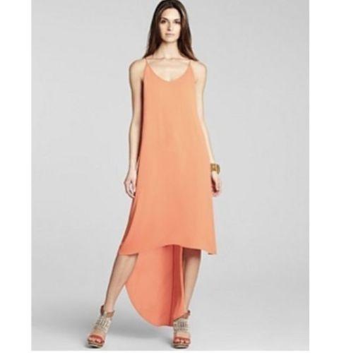 *NEW* BCBG Vermillion Rory Sleeveless High-Low Hem Dress L $198 WQR6W483