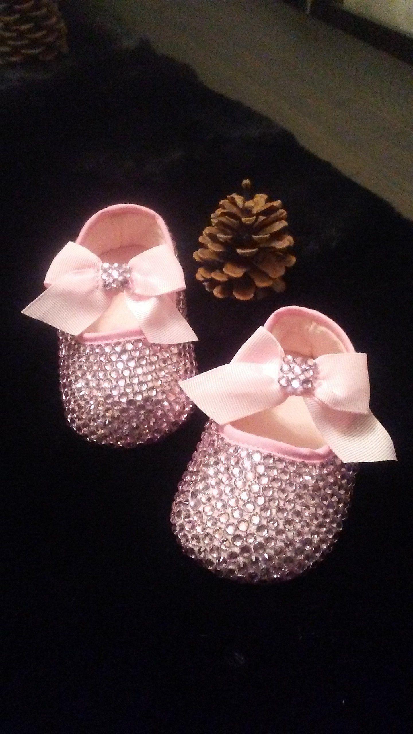 1c763b4a42f06b Beautiful Baby Bling Pink Shoes
