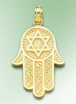 Amazon 14k gold religious necklace charm pendant jewish hand amazon 14k gold religious necklace charm pendant jewish hand of god with aloadofball Choice Image