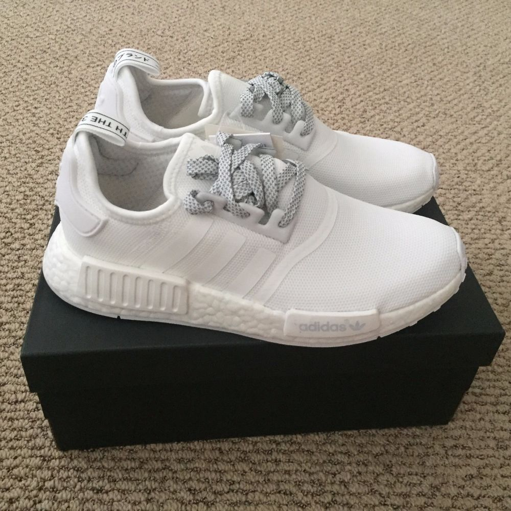 Adidas Nmd R1 Triple White Reflective Monochrome S31506 Size 8 7 5