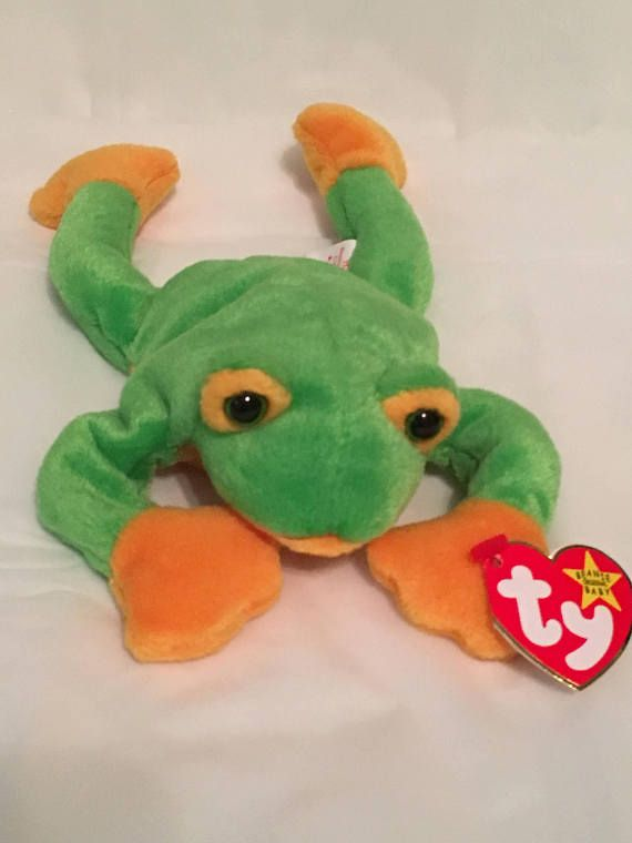 TY Beanie Baby SMOOCHY the Frog Pristine with Mint Tags  db459d87fb0