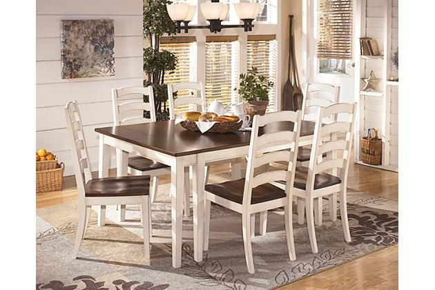 Brown Cottage White Whitesburg Dining Room Table View 4