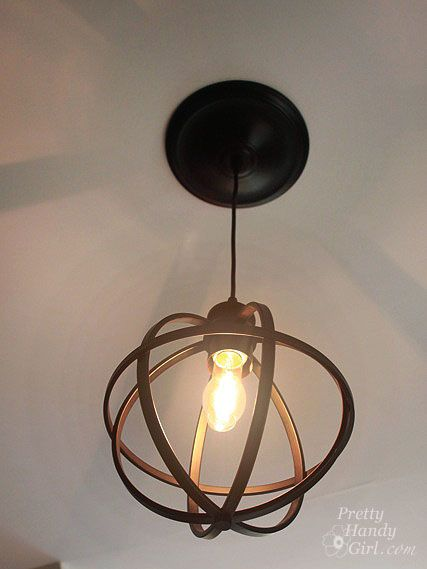 5 Minute Light Upgrade Converting A Recessed Light To A Pendant Can Lights Sphere Pendant Light Recessed Lighting