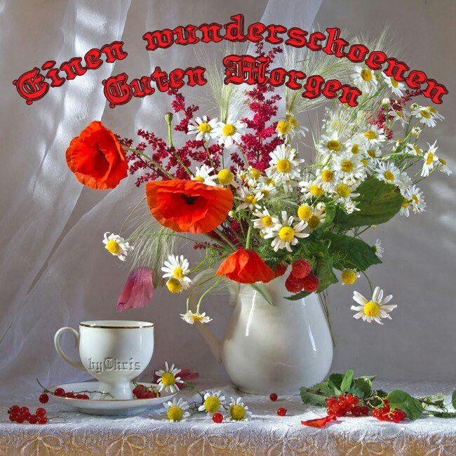 Einen Wunderschönen Guten Morgen Hochzeitsblumen Rot Wie