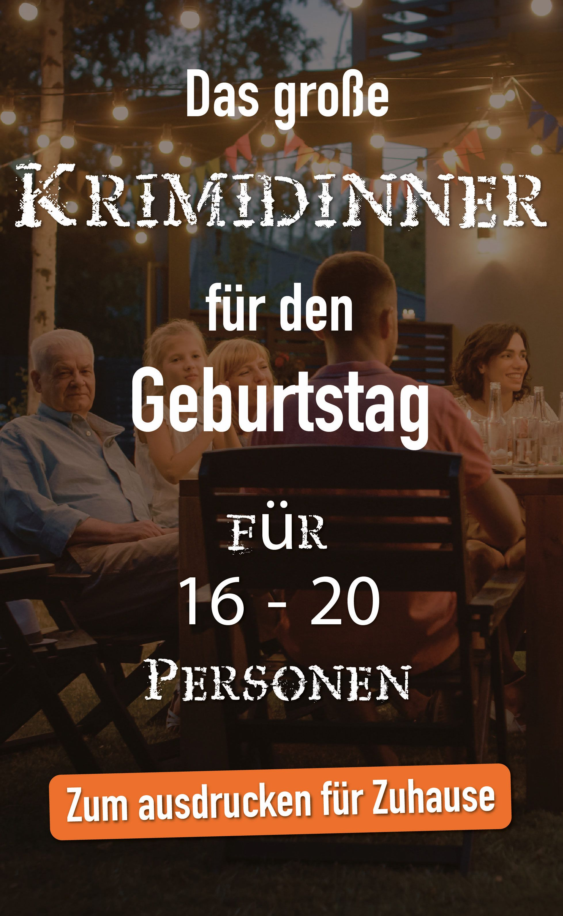 Photo of The big crime dinner 16 – 20 people