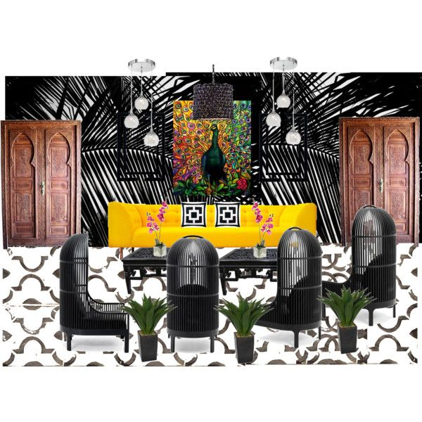 Outdoor Patio- BAR by anne-marie-jackson on Polyvore featuring interior, interiors, interior design, home, home decor, interior decorating, De La Espada, Possini Euro Design, Laura Ashley and Home Decorators Collection