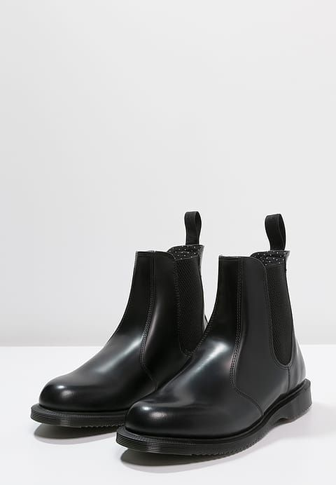 FLORA Stiefelette black polished smooth @