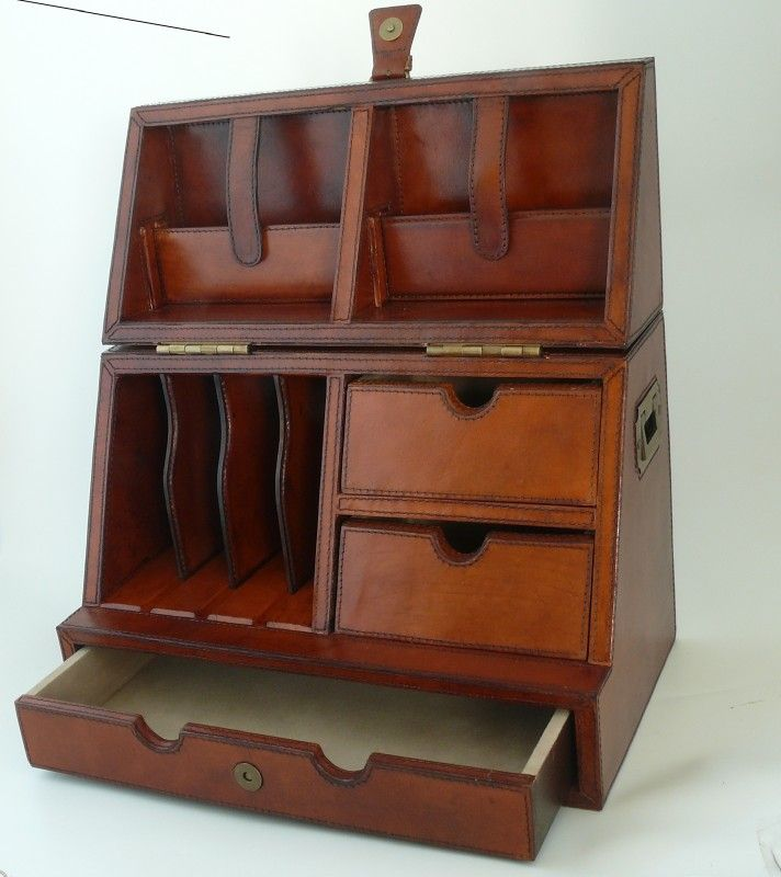 Leather stationary case