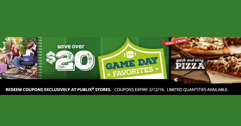 Publix coupon booklet game day favorites instore