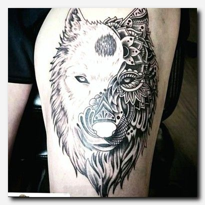 Yin Yang Wolf Tattoo Design Wolf Tattoos Tattoos