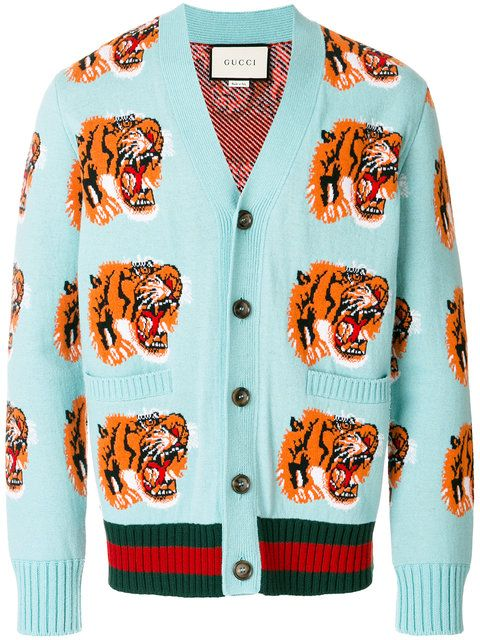16e23eea3 GUCCI Tiger patch cardigan. #gucci #cloth #cardigan | The Year of ...