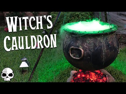 141 Diy Halloween Props Bubbling Witch S Cauldron With Glowing