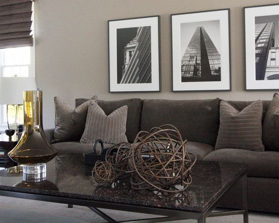 Brown Couch Gray Walls Design Ideas Pictures Remodel And Decor Living Room Grey Greige Walls Brown Living Room