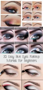 20 Easy Blue Eyes Makeup Tutorials für Anfänger Beauty İdeas