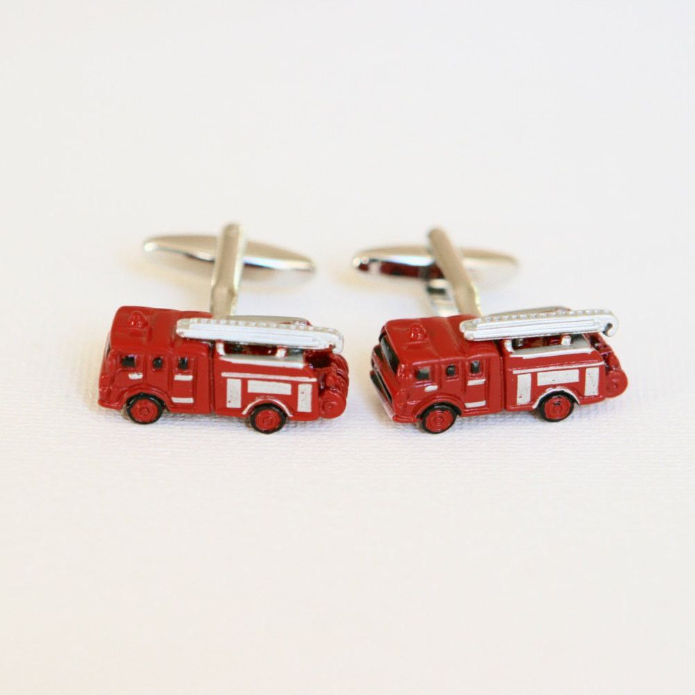 Fire fighters Firetrucks Cufflinks Firefighters - Red | Firefighter ...