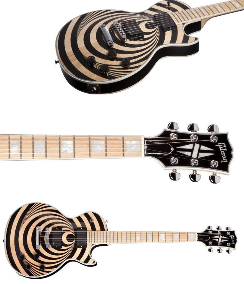 New Zakk Wylde Les Paul Custom Vertigo Gibson Guitars Zakk Wylde Bass Guitar