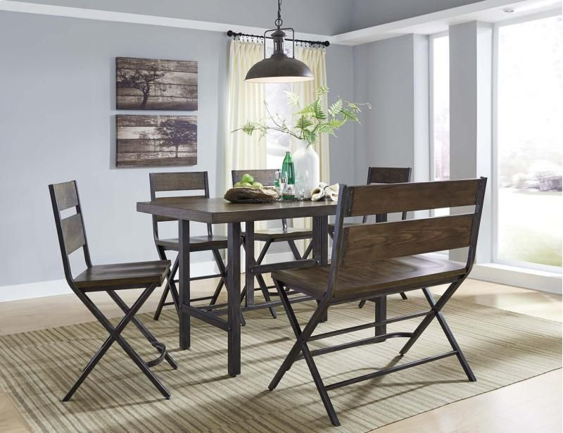 D469D2 in by Ashley Furniture in Kirksville MO - Kavara - Medium Brown 6 Piece Dining Room Set & D469D2 in by Ashley Furniture in Kirksville MO - Kavara - Medium ...