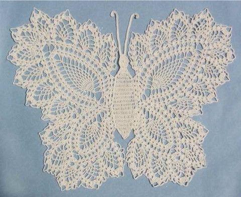 Butterfly Doily 2 Crochet Pattern   Pinterest   Butterfly, Crochet ...